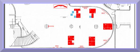 Plano de distribución de una exposición.
